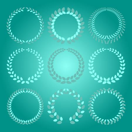 Created laurel wreath on bright background, stock vector Illustration