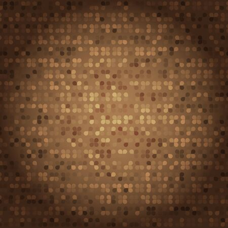 Created vintage style of brown mosaic texture, stock vector Illustration