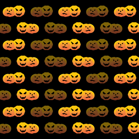 Halloween pumpkin pattern background, stock vector Illustration