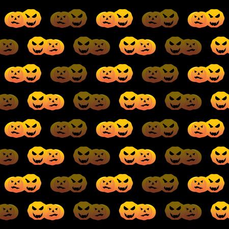 Halloween pumpkin pattern background, stock vector