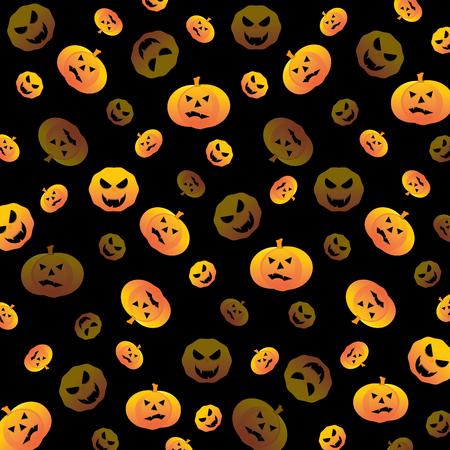 Halloween pumpkin textured background stock vector