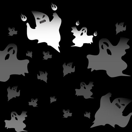 Halloween mad ghosts abstract background