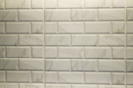 White marble tile in modern kitchen, stock photo