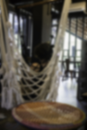 Blurred vintage living room of boutique hotel, stock photo