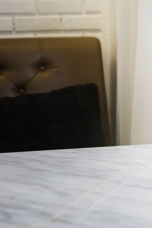 Stone table top in coffee shop interior, stock photo Standard-Bild