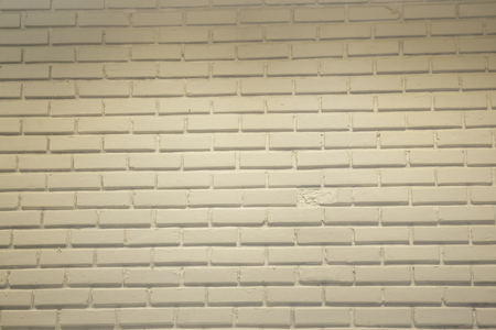 White brick wall in minimal room, stock photo