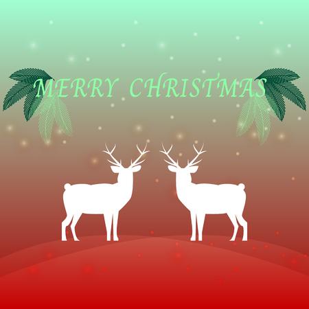 Geschaffener Hintergrund der frohen Weihnachten mit Ren, auf lagervektor