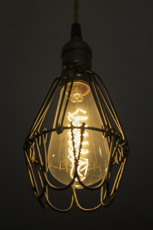 Decorative light bulbs in modern style, stock photo