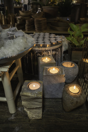 Aroma candles decorated in the shop, stock photo Standard-Bild