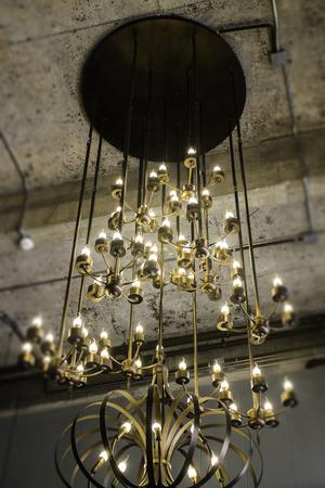 Decoration vintage style ceiling light, stock photo 版權商用圖片