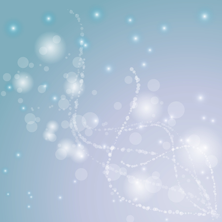 Created bokeh and light line on blue abstract background Ilustração
