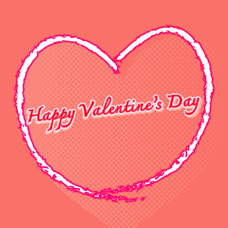 Happy valentines day with many hearts background, stock vector