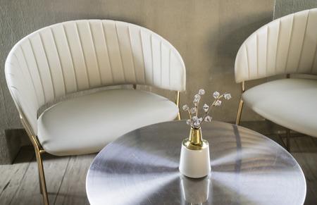 Interior design multipurpose table in modern style, stock photo