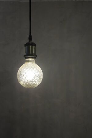 Light bulb design for minimal room style, stock photo