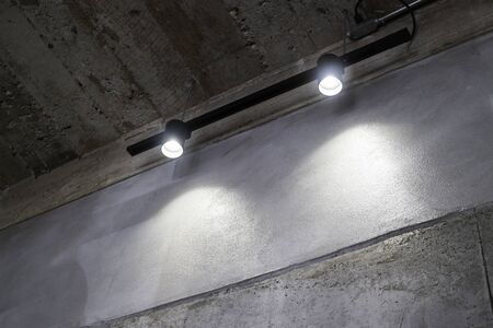 Modern ceiling light decorated in coffee shop, stock photo 스톡 콘텐츠