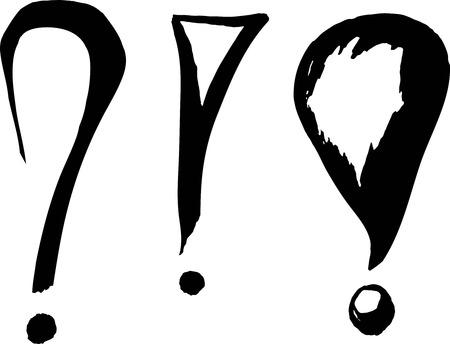 libro de cuentos: signo de admiraci�n Vectores