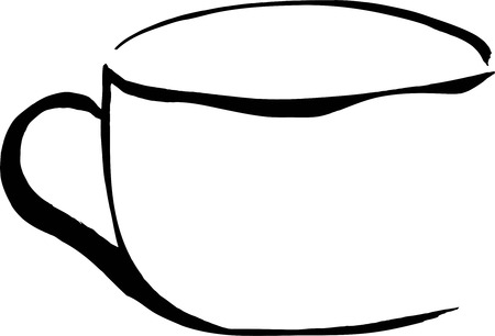 paper arts and crafts: cup Illustration