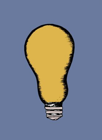 art gallery interior: light bulb Illustration