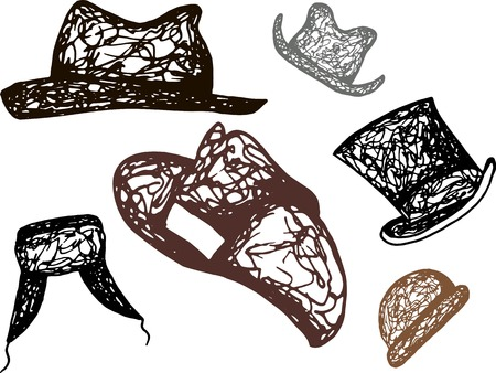 fashionably: hat Illustration