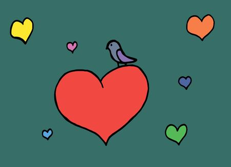 lovebirds: love heart