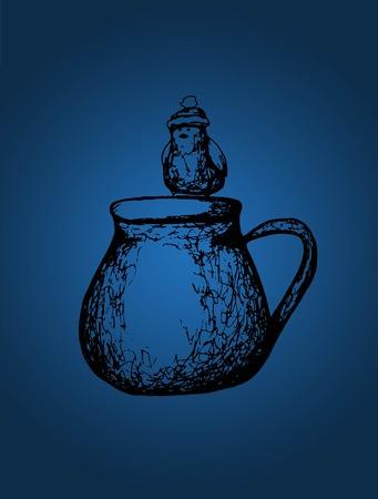 ochtend dauw: koffiekopje vogels