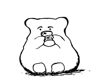cheerfulness: bear and coffee