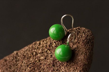 green earrings photo