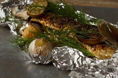falgu fish with lime garlic and onion photo