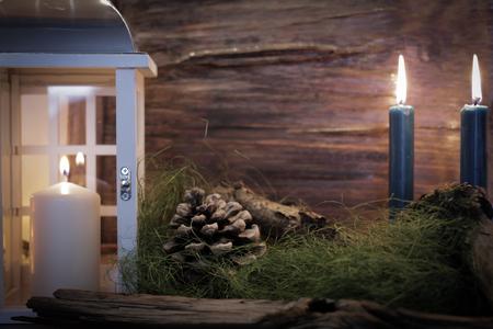 luz de velas: luz de las velas de Navidad