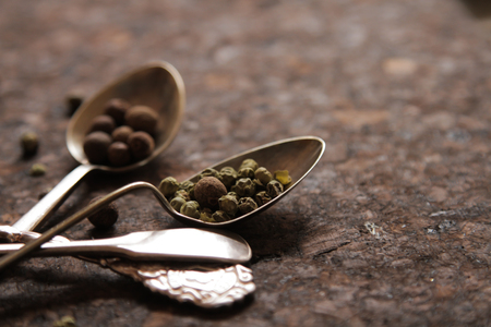 pungent: pepper mixture. seasoning for any dish, on a spoon. pungent odor