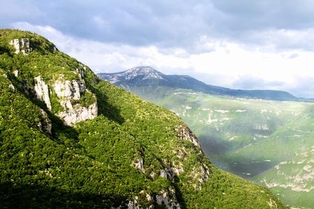 Mountains of Italy near Verona. Italy tourist center. Summer Stock Photo