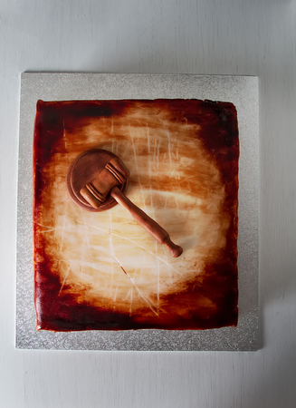 Cake for the holiday. Light background Standard-Bild