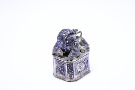 Silver Chinese lion