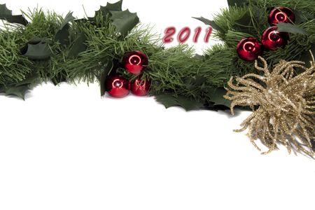 2011 new year gerland frame Stock Photo - 8270013