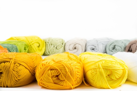 acrylic yarn: colorful skeins of Yarn