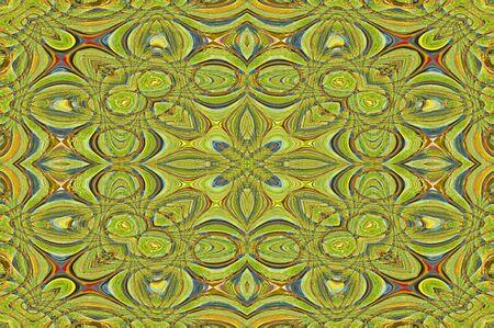 現代敷物 desgn の図の色は、黄、緑、および青のデザインには、円と楕円が組み込まれています