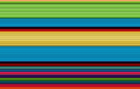 edges: Brilliant rows of red, yellow, blue and green have an edgy texture.  Ridges and lines stripe this brilliant colored background.