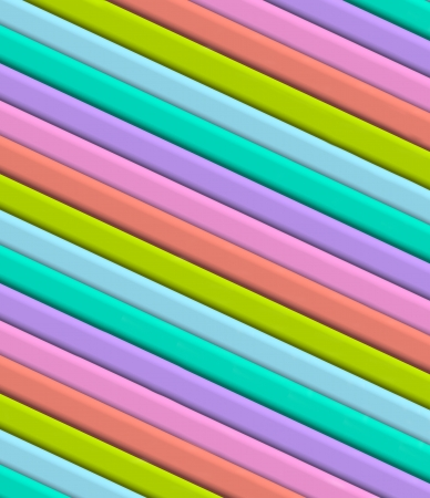 tiers: 3D diagonal stripes in fun colors of teal, purple, pink, orange, blue and lime green