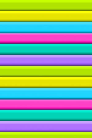 Neon strepen in groen, geel, blauw, roze, aqua en paars vorm 3D textuur in lagen naar beneden afbeelding