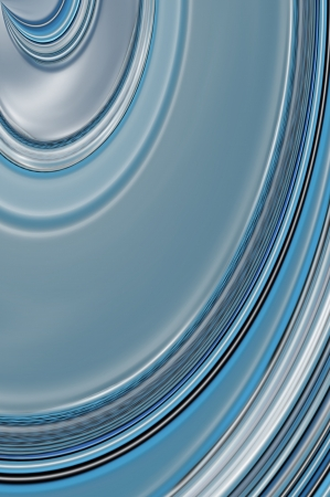 disappear: Shades of blue form curving pattern and disappear into a vortex of blue. Stock Photo