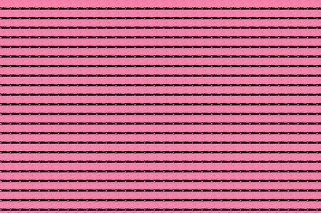 Bright pink background is covered in black lines with tiny black dots. Abstract Image could represent sign the dotted line. photo