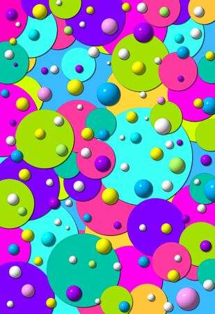 polka dots: Polka dot heaven includes largte and small polka dots in fun colors.  Some are 3D, some are 2D, and some cover complete background image.