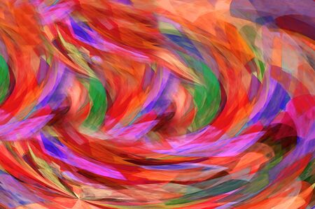 Glowing red, orange and green swirl in a vortex of moving color. photo