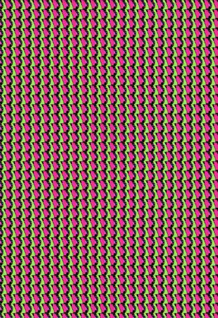 Zig zag stripes fill scrapbooking background with hot pink and soft green Stock Photo - 15110902