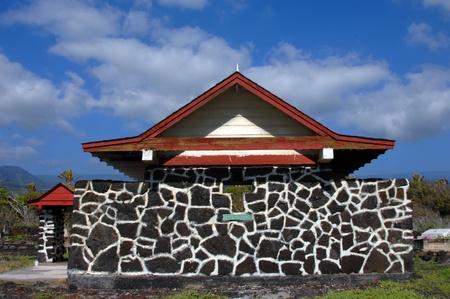 congregational: The small chapel called Hokuloa Church, sits on the top of a hill overlooking Kealakekua Bay on the BIg Island of Hawaii.