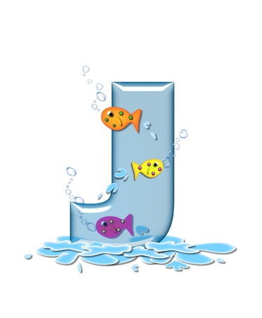 Der Buchstabe U Im Alphabet Satz Fisch Flop Ist Aqua In Farbe Und ...