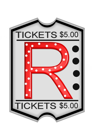 "R, in the alphabet set "",Ticket,"","