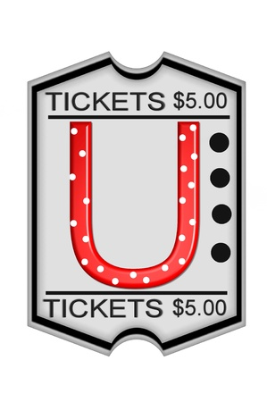 "U, in the alphabet set "",Ticket,"","