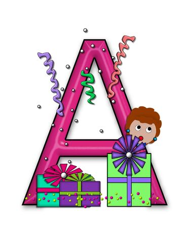 A, in the alphabet set &quot,Birthday Letters&quot,