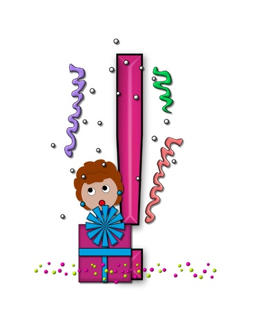 exclamation point: Exclamation Point, in the alphabet set &quot,Birthday Letters&quot, Stock Photo